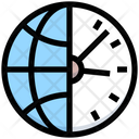World Clock Clock Worldwide Time Icon