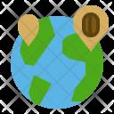 World Coffee Bean Icon