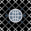 World Globe Connect Icon