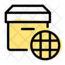 World Delivery World Parcel Delivery Icon