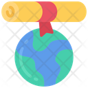 World Education Globe Teaching Icon