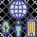 Orld Environment City Ecological Icon