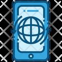 World Exchange Mobile Phone Icon
