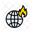 World Disaster Fire Icon