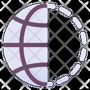 World Half Location World Browser Icon