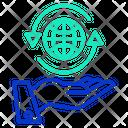 World Handm World Hand Globe Icon