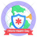 Global Medical Safety Medical Security World Health Day Icon