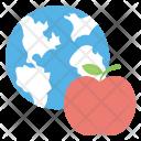 Apple Globe World Icon