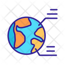 World Geography Contour Icon