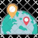 World Map Location Icon
