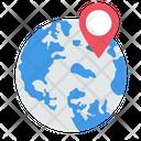 World Map Pin Icon
