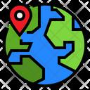 World Location Global Location Earth Icon