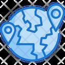 World Earth Location Icon