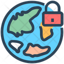 Lockdown World Travel Icon