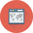 World Map Online Icon