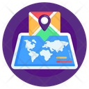 World Location Paper Map World Map Icon