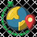 World Map Tour Icon