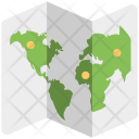 World Map Zigzag Icon