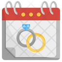 World Marriage Day Important Day Calendar Icon