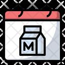 Milk Food Calendar Icon