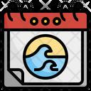 World Ocean Day Ocean Day Ocean Calendar Sea Icon