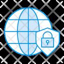 World Shield Lock Icon