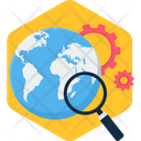World Search Magnifier Icon