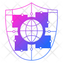 World Shield Cyber Icon