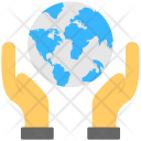 World Security Hand Icon