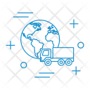 World Shipping Truck Icon