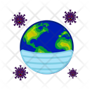 Earth Covid 19 World Icon