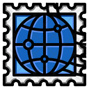 World Stamp Icon