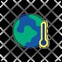 World Temperature Climate Change Earth Icon