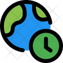 World Time Global Time Time Zone Icon