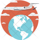 Business Travel Airplane Icon
