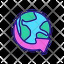 World Contour Concept Icon