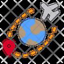 World Airplane Pin Icon