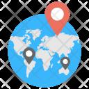 Different Location Worldwide Icon
