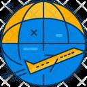 Travel Blue Orange Icon