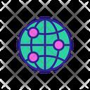World Contour Land Icon