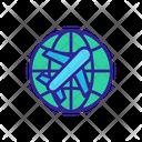 World Plane Air Icon