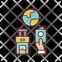 World Trip Abroad Immigration Icon