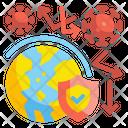 World Virus Protection World Safety Icon