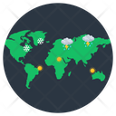 World Weather Forecast Meteorology Weather Prediction Icon