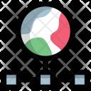 Internet Network Diagram Icon