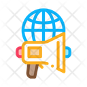 Loudspeaker Business Communicationglobe Icon