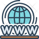 World Wide Web Access Connection Icon