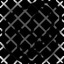 Internet Arrow Earth Icon
