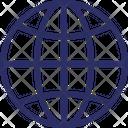 Worldwide International Around The Globe Icon