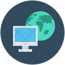 Worldwide Monitor Globe Icon